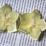 Satin Ribbon Flowers - 5 pc..