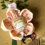 Fabric Flower Hair Clip - P..