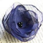 Royal Blue Fabric Flower Bo..