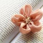 Fabric Flower Hair Clip and..